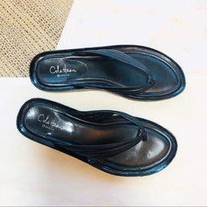 Cole Haan G Series black Nike Air thongs sz 6.5